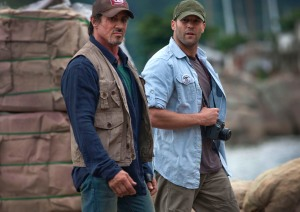 sly & Jason on the set in Brazil
